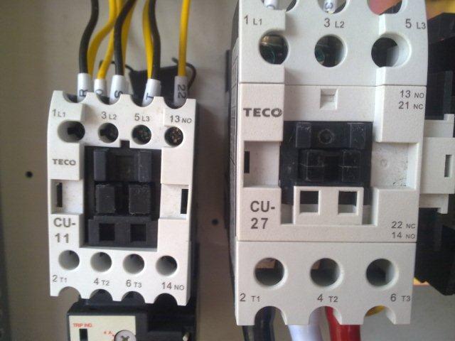 medan magnet. Biasanya kontaktor digunakan untuk sistem listrik 3 fasa