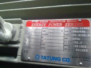 tatung nameplate 50 hp