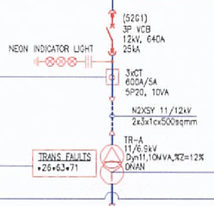 single line diagram simbol