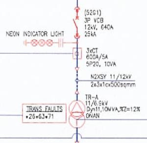 single line diagram simbol