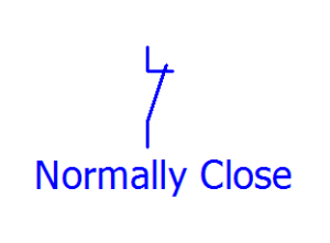 lambang normally close
