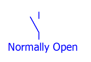 lambang normally open