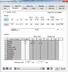 power factor dan efisiensi 100 persen ETAP