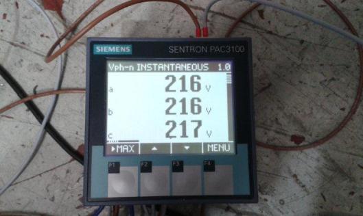 tampilan di sentron pac3100