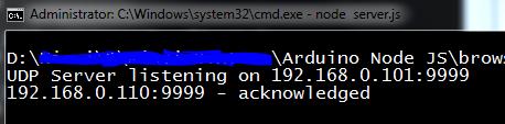 server nodejs udp